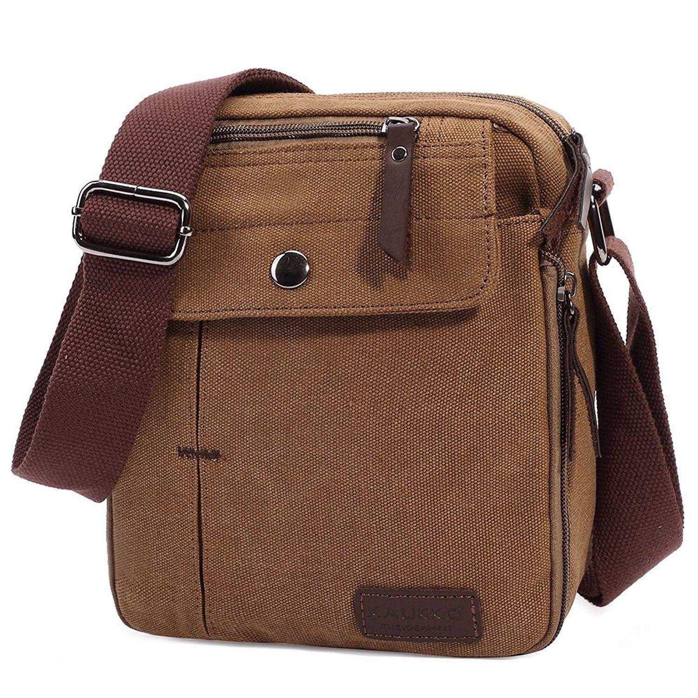 bcb0d3363ade KAUKKO Vintage Canvas Shoulder Sling Bags Hiking Travel Crossbody Messenger  Bag -- Remarkable outdoor item available now.   Best hiking backpack