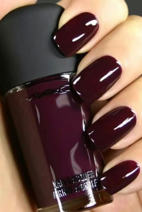 Marsala Color Dark Nails Gel Plum Oxblood