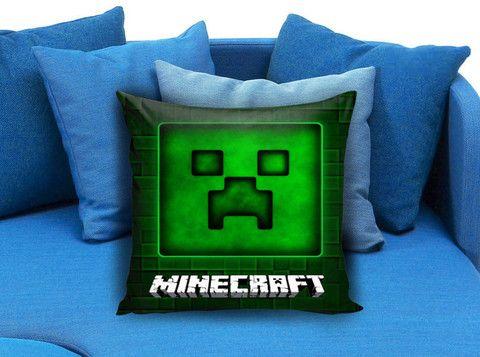 Brick Game 03 Minecraft Creeper Pillow case #pillowcase #pillow #cover #pillowcover #printed #modernpillowcase #decorative #throwpillowcase