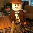 """Last year I saw a great """"ible"""" about making an adult lego costume. I loved the idea of the big minifig head so I proposed this to my six year ..."""