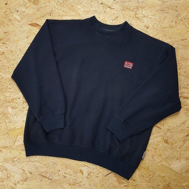 d76af2623700 Listed on Depop by lottieslottsvintage. Vintage 90s Reebok Essential Sweater  ...