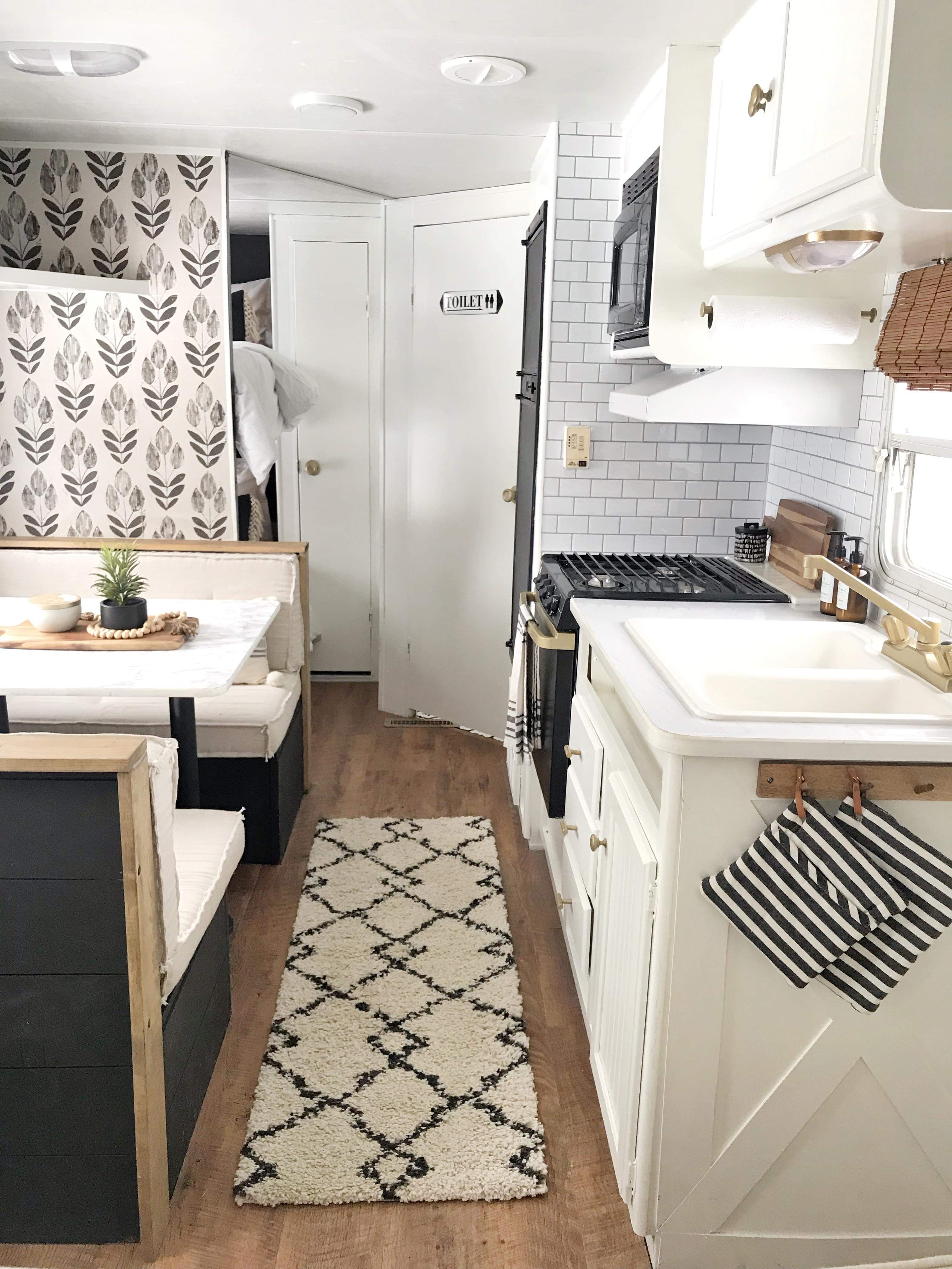 My 500 Camper Remodel That I Did All By Myself Proverbs 31 Girl Camper Trailer Remodel Kitchen Remodel Small Remodeled Campers