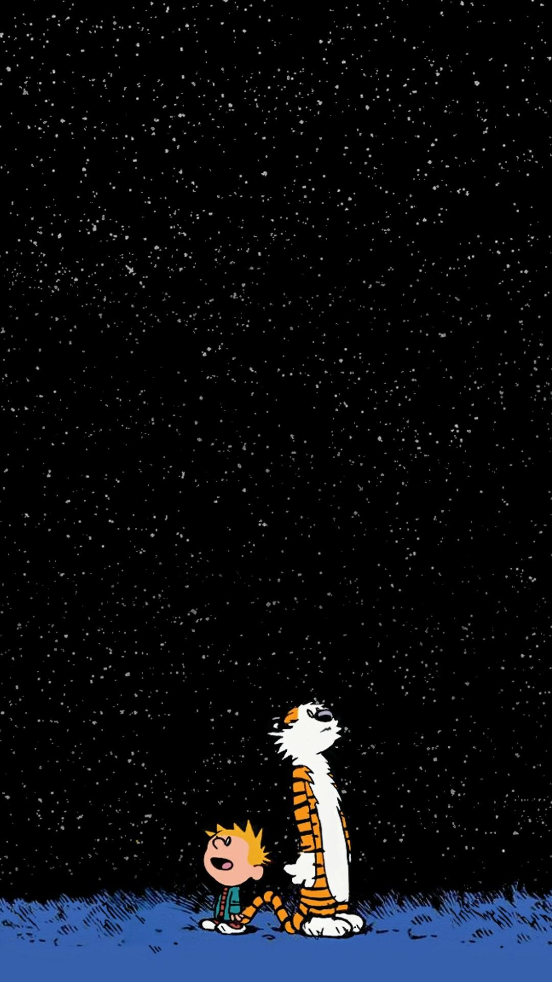 Request] Can anyone turn this Calvin and hobbes wallpaper