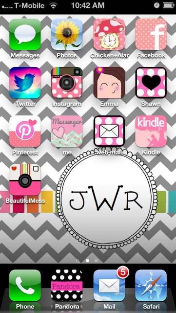 Make iPhone icons cuter. The best app is Cocoppa, cute