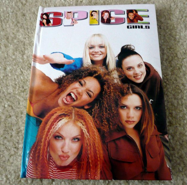 936dd936f33b I put my Spice Girls stickers in it!!!! A 100 page hard cover journal