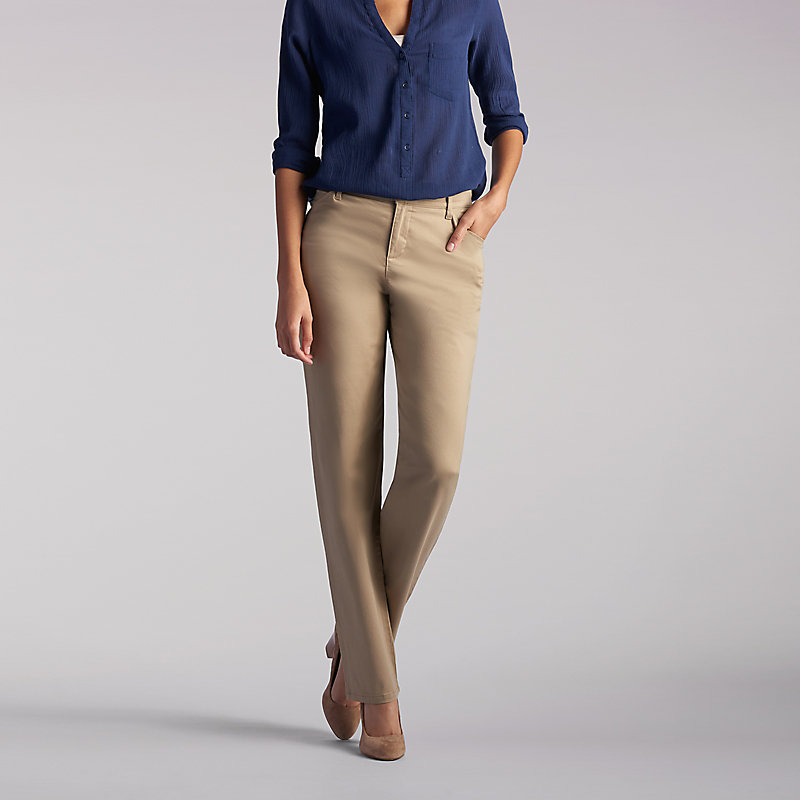 242fad4baea Lee Women s Relaxed Fit Straight Leg Pants - Petite (Size 10 x P)