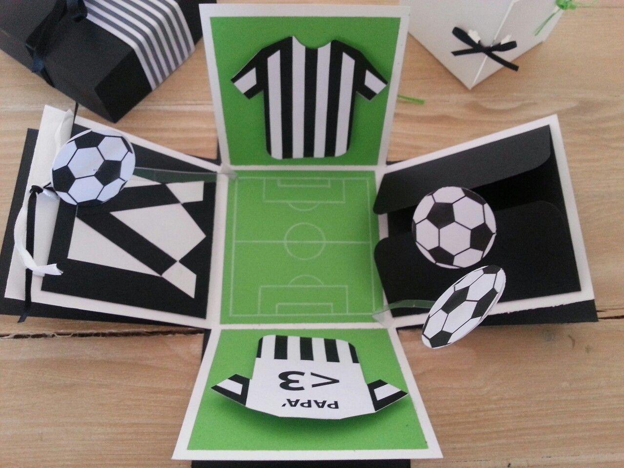 как красиво сложить открытку для футбола все они
