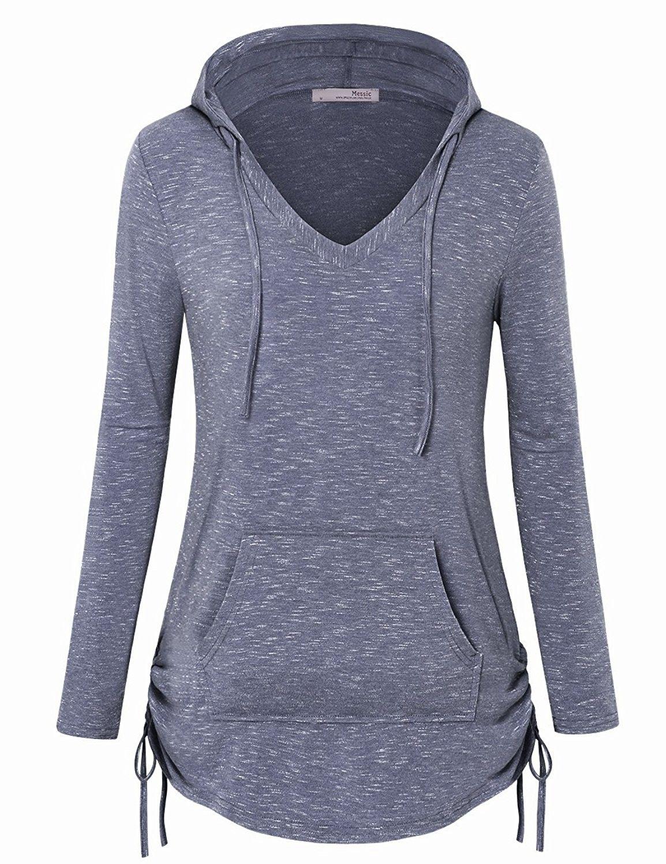 Yayu Women Long Sleeve Color Block Casual Pullover Drawstring Sweatshirt
