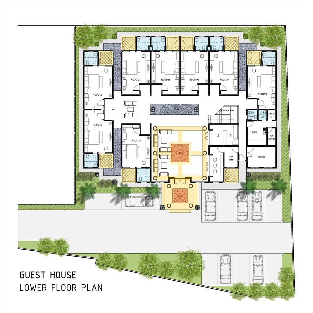 365 Likes 1 Comments Idedenahrumah On Instagram Guest House Lower Floor Plan Denah Arsitek Idedesain Archite Arsitek Denah Rumah Arsitektur