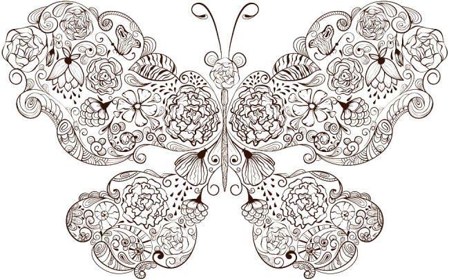 Raskraski Babochki Butterfly Coloring Page Butterflies Vector Butterfly Mandala