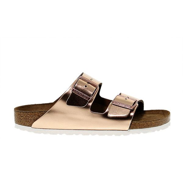 64825c89bb85 Birkenstock Flat Sandals ( 99) ❤ liked on Polyvore featuring shoes ...