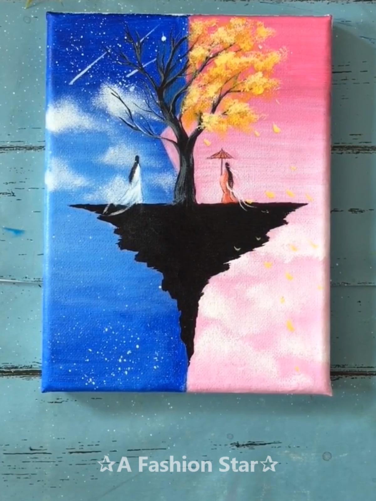7 idées de leçons de peinture super faciles - art pour débutant   Peinture artistique, Peinture ...