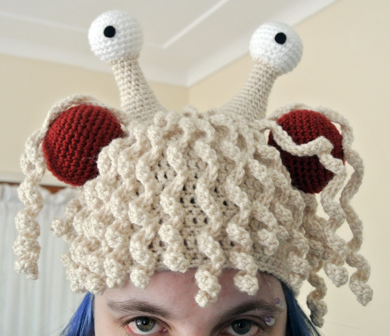 Flying Spaghetti Monster Crochet Hat - Pattern Only | Artsy fartsy ...