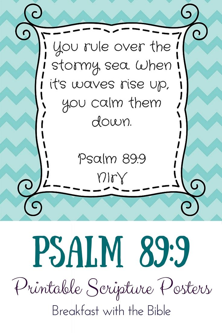 Scripture Sunday {Psalm 89:9} | A Word to the Wise | Pinterest ...