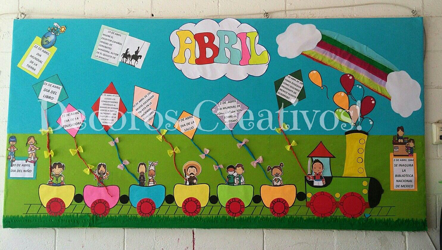 Periodico Mural De Abril Decoros Creativos Murales Escolares