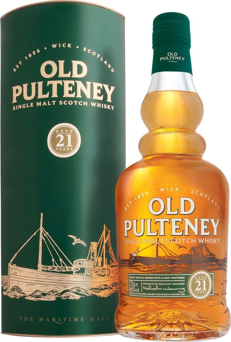 Old Pulteney 21 Year Old Single Malt. Suolainen, tasapainoinen, hedelmäinen viski. Jättämää pohtimaan syntyjä syviä. Hyvää!
