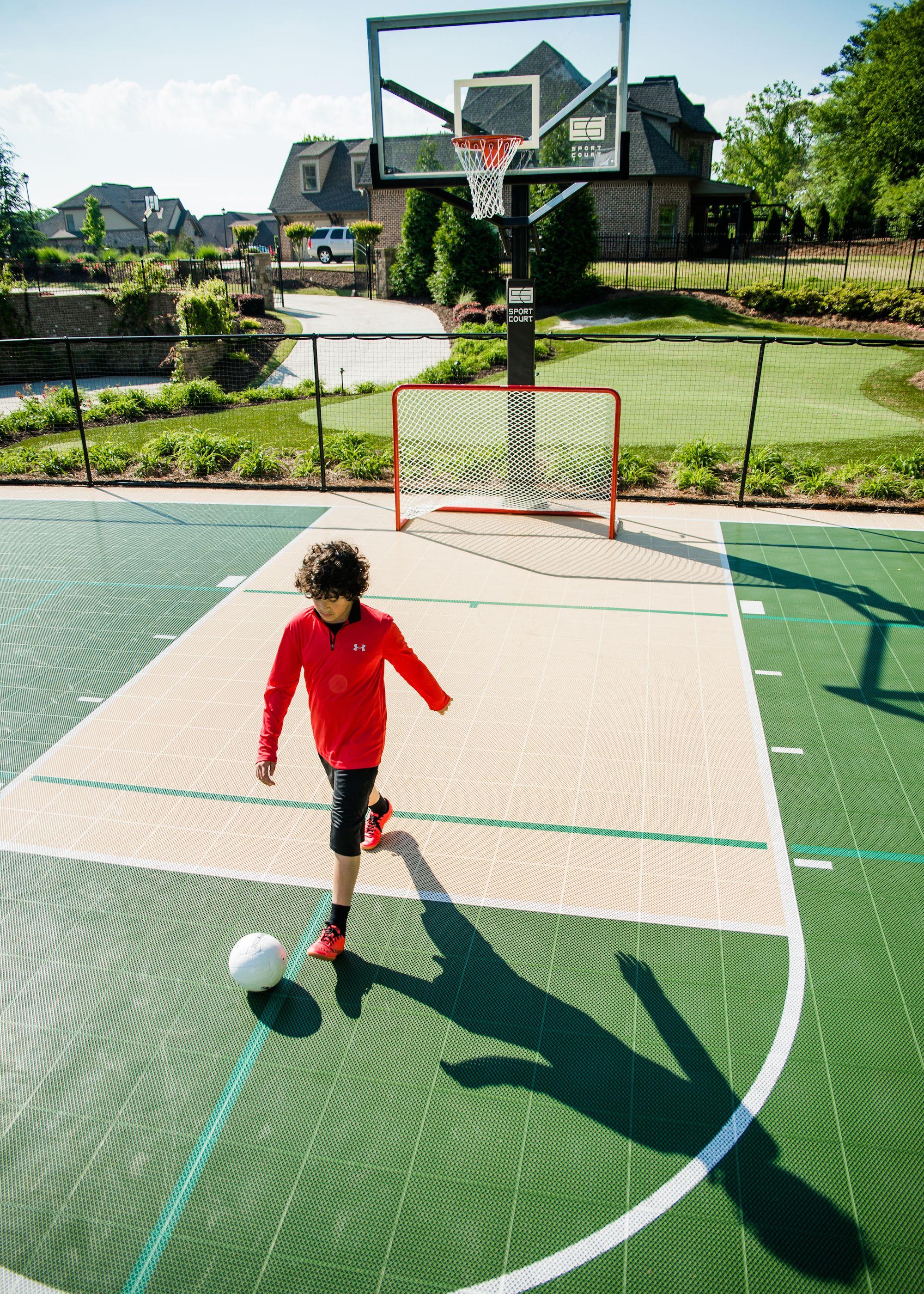 Residential Multi Game Sport Court Sportprosusa Backyard Sports Sport Court Basketball Court Backyard