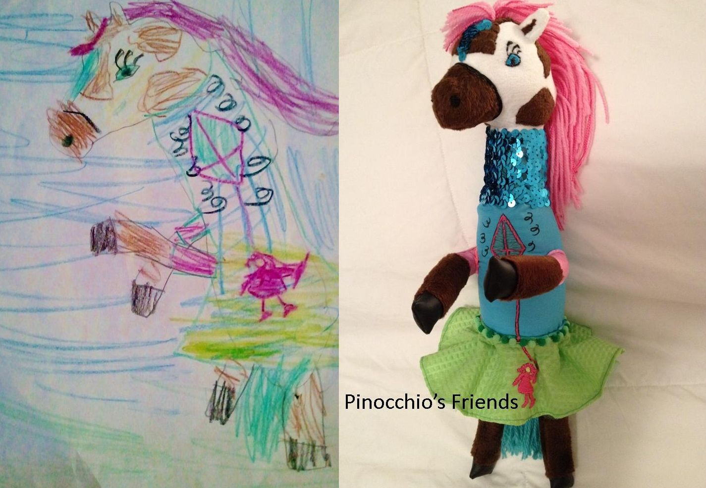awesome toy company decided to make children's drawings into weird plush toys