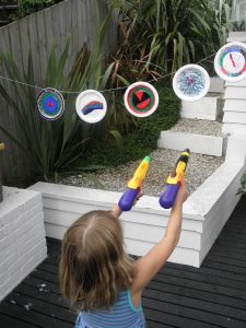 Nothing beats water games to keep kids cool and amused on hot summer days. This project is a great way to combine craft with some good, old-fashioned water play. My kids certainly enjoyed this game. But hey! Why should kids have all the fun. Adults can play too.