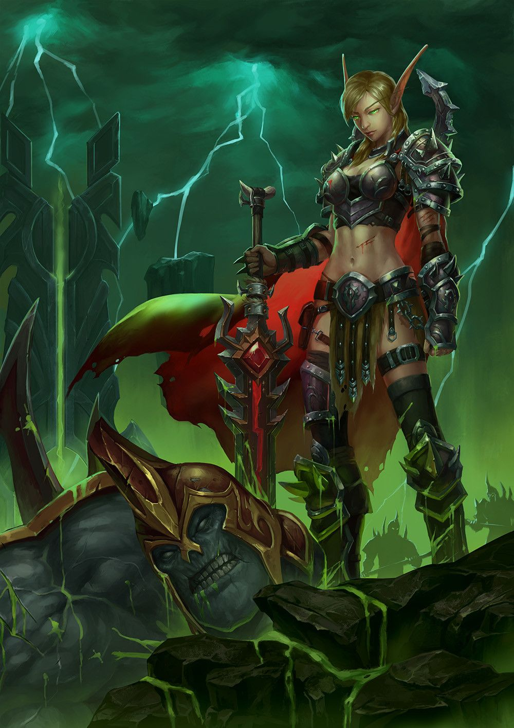Pin By Mrhem On Wow In 2019 Warcraft Art Fantasy Art Elf Warrior