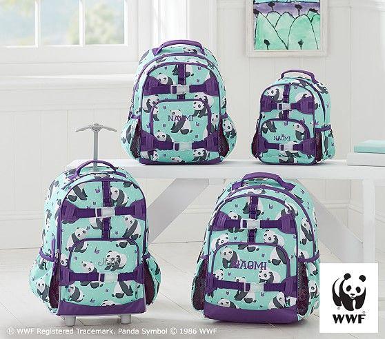 Mackenzie Aqua Panda Backpack Pottery Barn Kids Backpack
