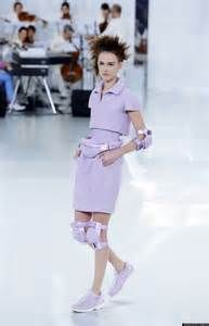 Chanel featured sneakers in almost all their looks on the Spring-Summer 2014 Haute Couture Runway