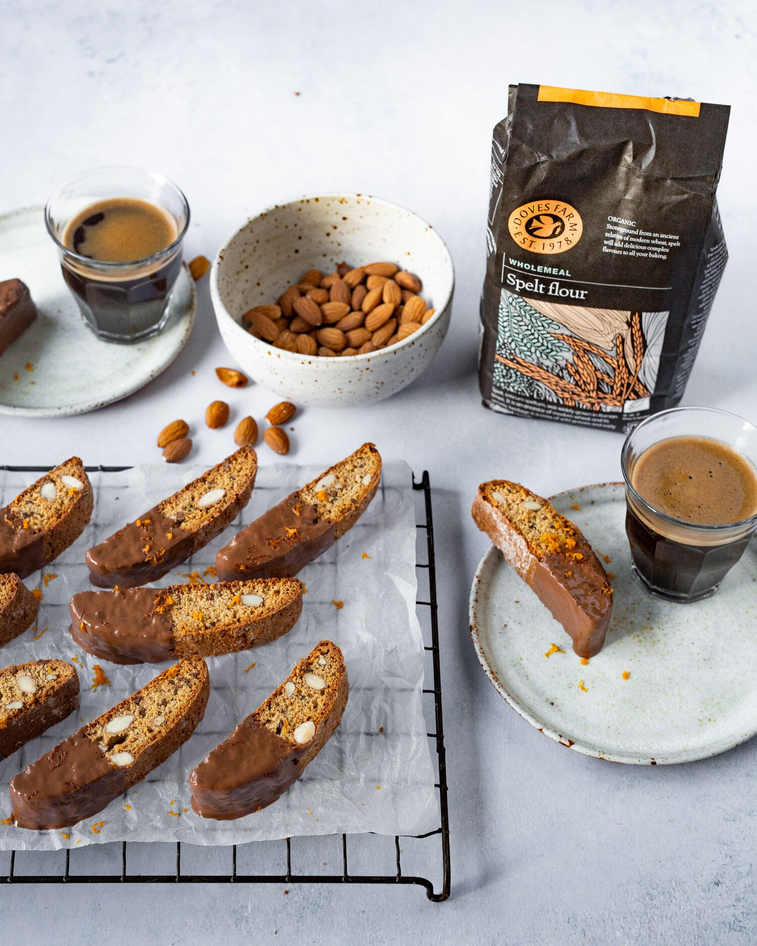 Chocolate Orange Spelt Biscotti Food recipes, Baking