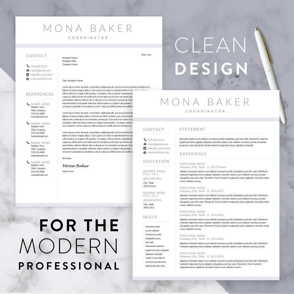 Modern Resume Template for Word Resume template word