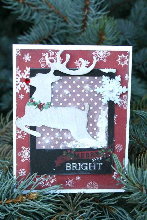 Merry and Bright Christmas Card-Adding fake snow to your cards ...