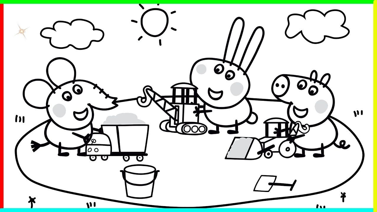 Peppa Pig Coloring Pages To Print Archives And Coloring Pages Peppa ...