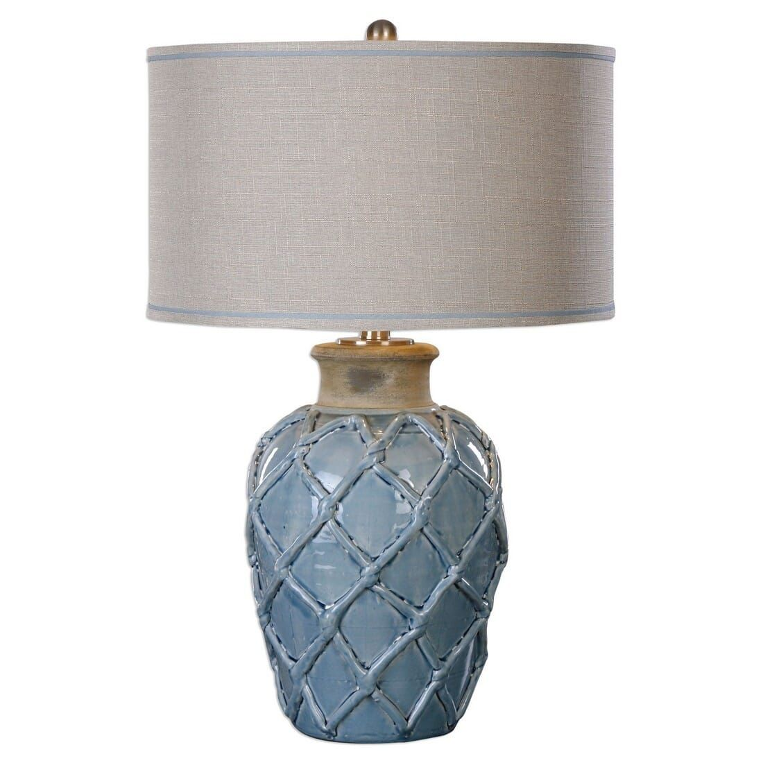 Uttermost Parterre 30 Inch Hammock Weave Pattern Table Lamp In