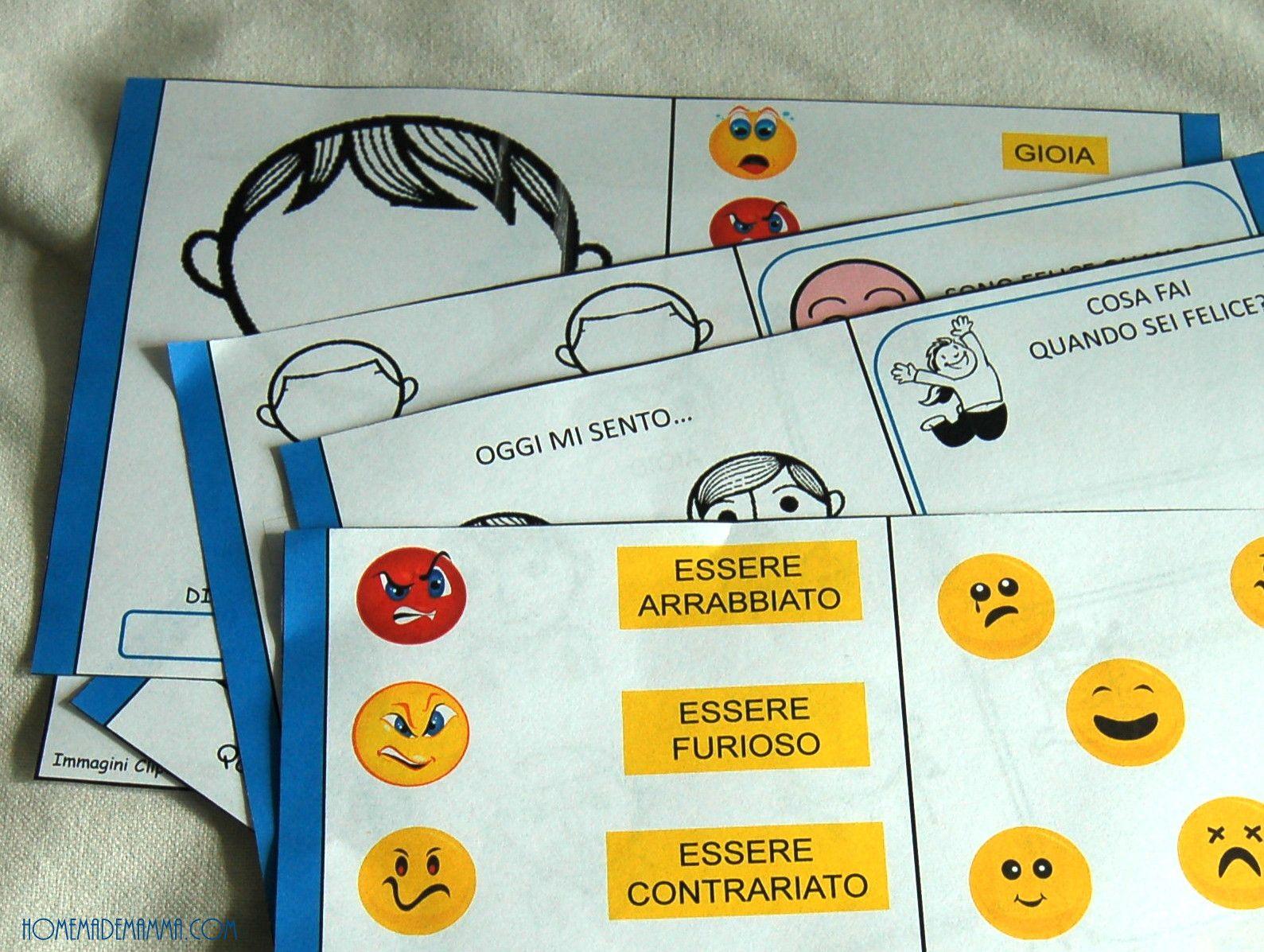 Célèbre Emozioni in gioco: un libro-gioco sulle emozioni da stampare ed  OU72