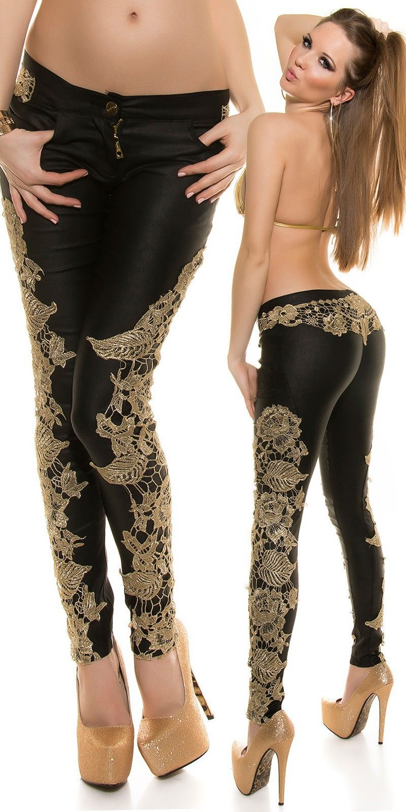 Pin by Murad Zidan on Sexy fashion   Jeans, Pants, Lace jeans 8634be0f36