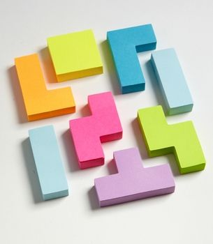 Tetris Sticky Notes, fredflare.com
