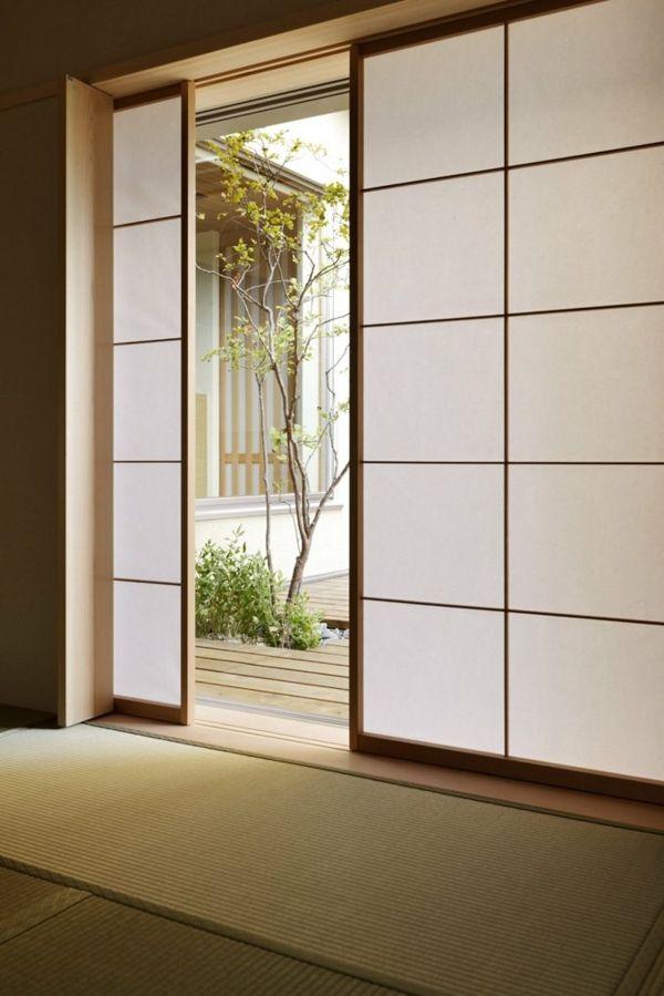 Japanisches Innendesign Schiebeturen Hauser