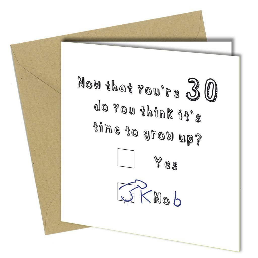 30th birthday card son