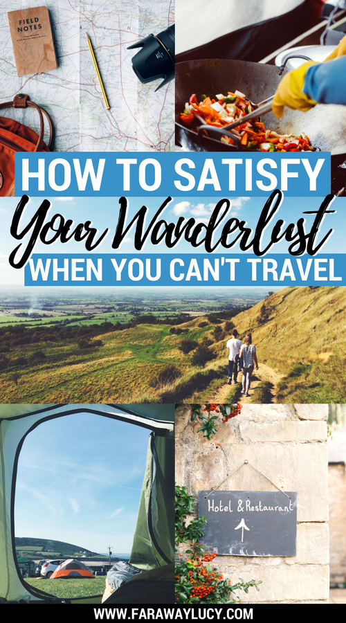 The ultimate guide on how to satisfy your wanderlust when you don't have the time or money to travel the world. Click through to read more...