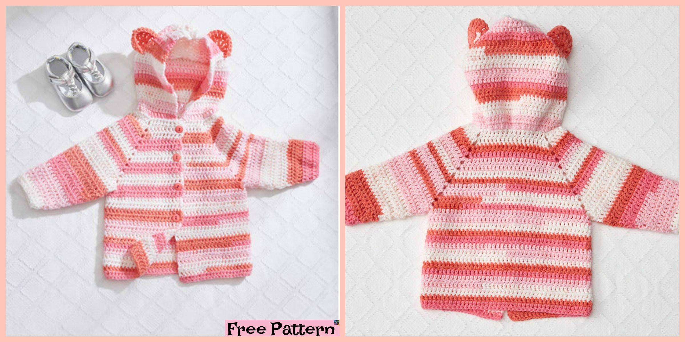 b01b39c200e4 Crochet Baby Bear Cardigan – Free Patterns