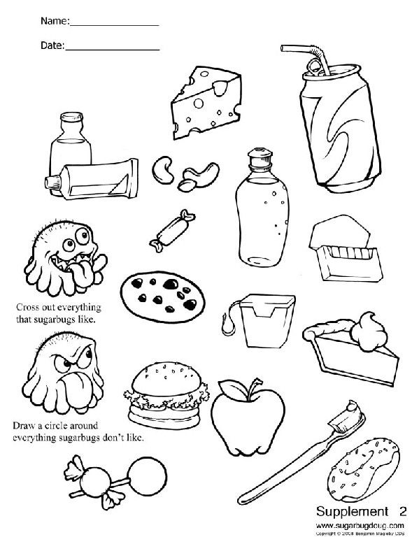 dental coloring pages for preschoolers - photo#9