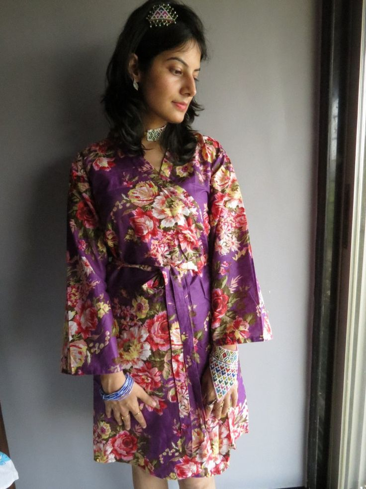 Knee length Robe Style Made From A10 Fabric Pattern