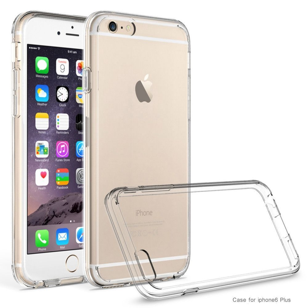 Apple iPhone 6 Plus Premium Clear Acrylic Panel + TPU Bumper Shock Absorbing & Scratch Resistant - Clear