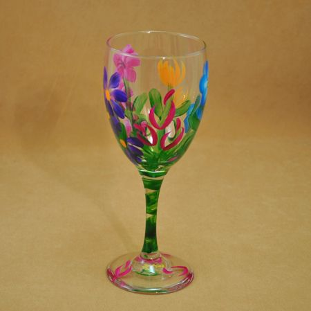 hand painted wine glasses - Google Search