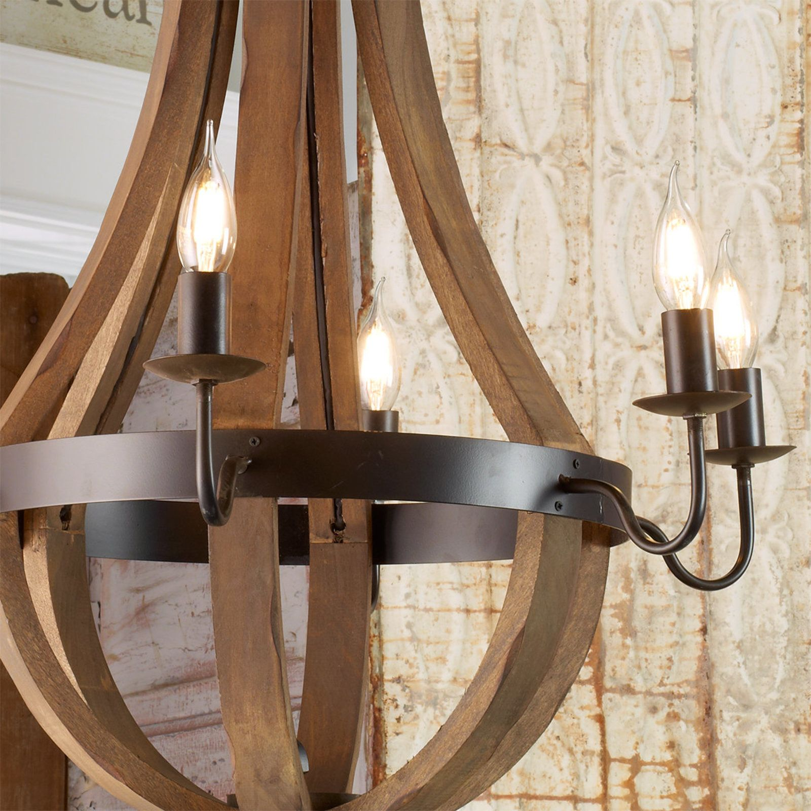 Wooden wine barrel stave chandelier wine barrel chandelier wooden wine barrel stave chandelier arubaitofo Gallery