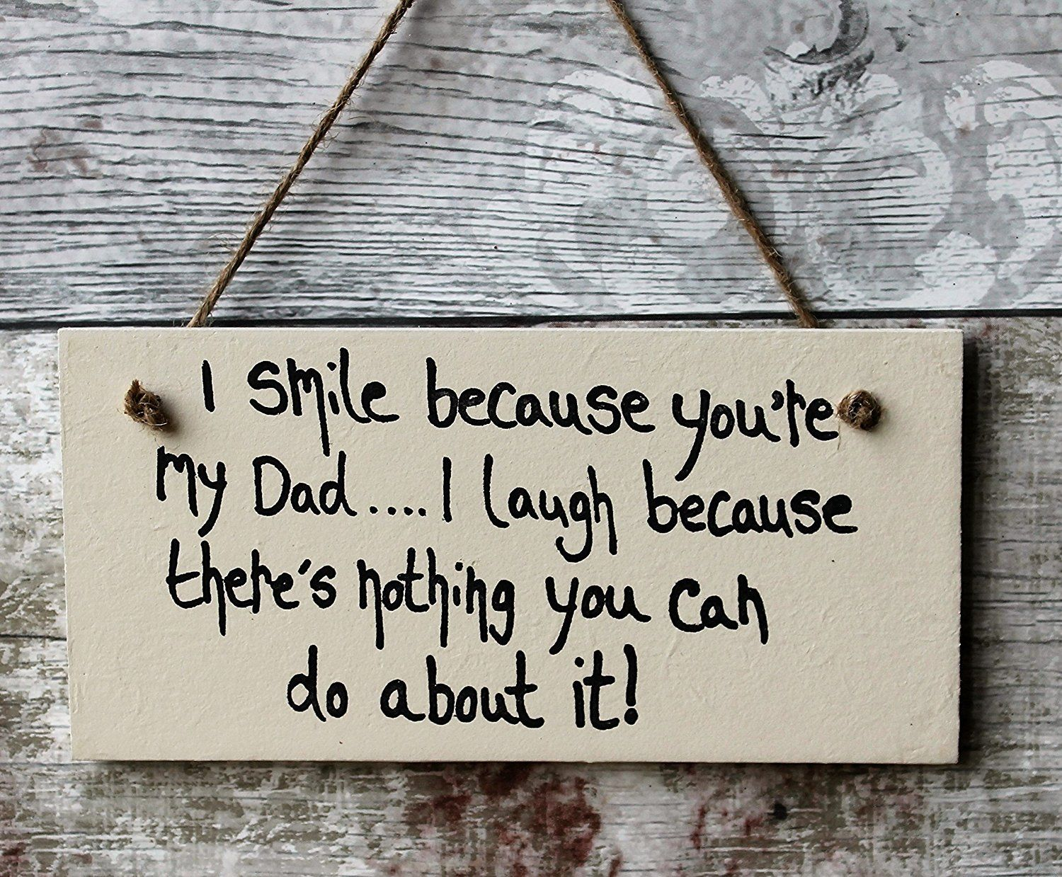 MadeAt94 Handmade Wooden Plaque Gift For Dad Grandad Fathers Day Sign Birthday Amazoncouk Kitchen Home