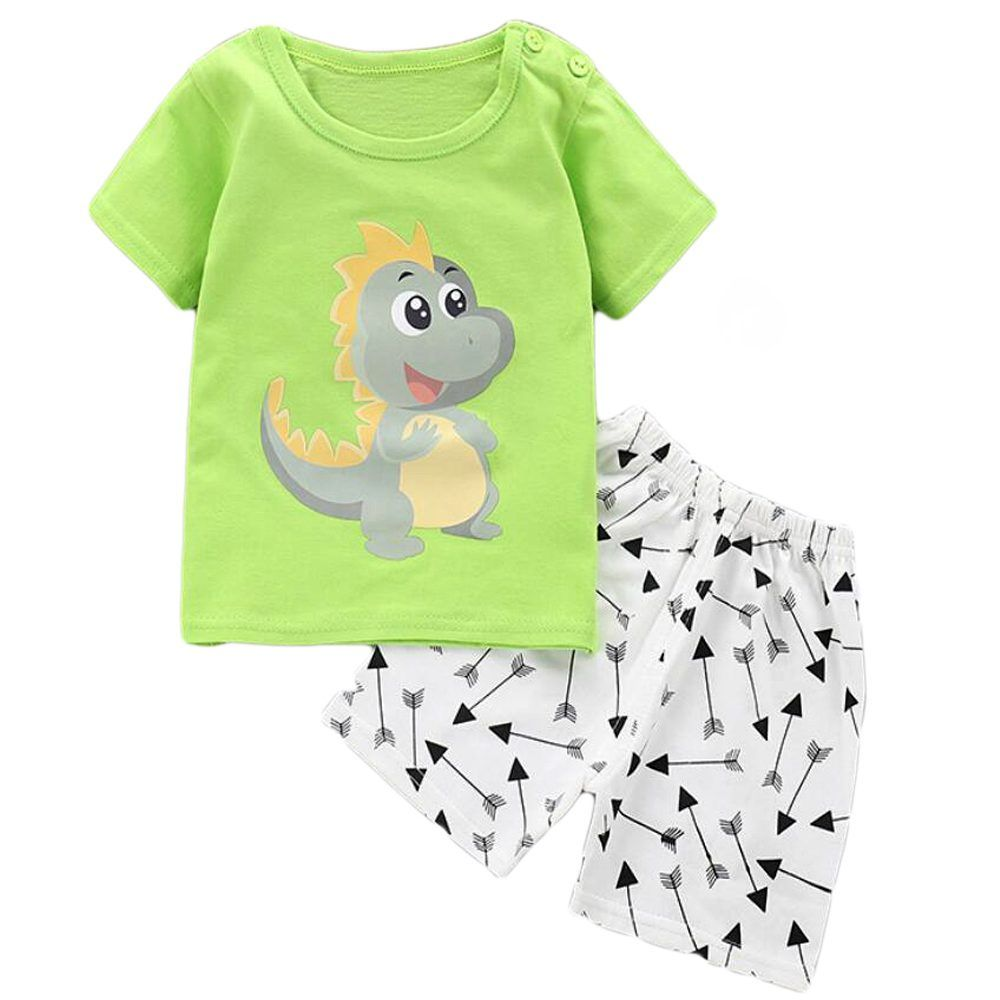 Baby Boy Summer 2 Piece Set T-Shirt With Shorts Outfit Top and Trousers 12M-4Y