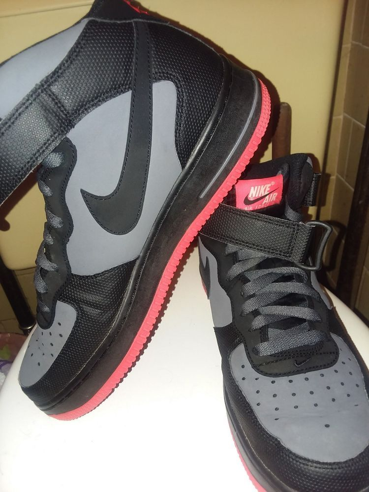 e3ebfddc Nike Air Force 1 Black & Gray w/ Red Bottoms High Tops Men's size 9 EUC  #fashion #clothing #shoes #accessories #mensshoes #athleticshoes (ebay link)