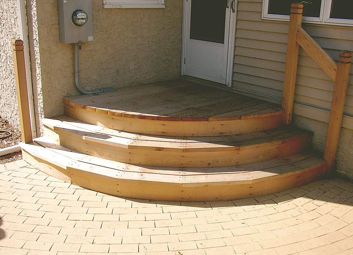 patio stairs ideas | Deck With Stairs Design For Exterior ...