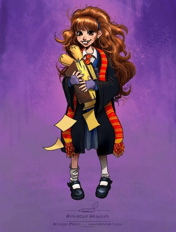 Hermione Granger by Alfonso Pardo for @Sketch_Dailies