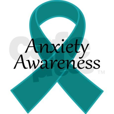 Symbol For Anxiety Awareness Teal Ribbon Anxiety