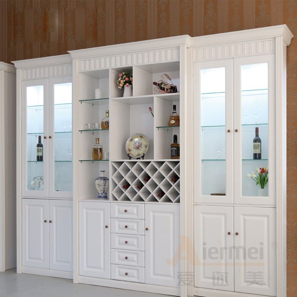 living room cabinet furniture bookcase with glass